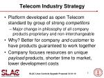 telecom industry strategy
