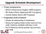 upgrade schedule development