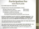 participation fee 500 per player