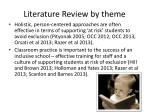 literature review by theme