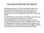 literature review by theme3