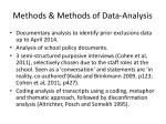 methods methods of data analysis