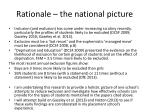 rationale the national picture