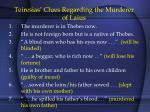 teiresias clues regarding the murderer of laius