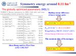symmetry energy around 0 11 fm 3