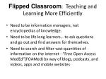 flipped classroom teaching and learning more efficiently