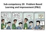 sub competency 20 problem based learning and improvement pbli