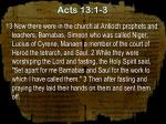 acts 13 1 3