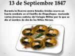 13 de septiembre 1847