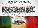 1855 ley de ju rez
