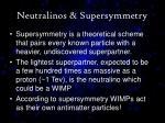 neutralinos supersymmetry