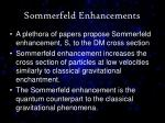 sommerfeld enhancements