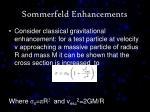 sommerfeld enhancements1