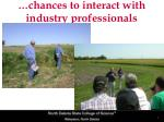 chances to interact with industry professionals