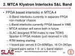 2 mtca klystron interlocks s l band