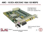 amc 10 2ch adc dac 16bit 125 msps