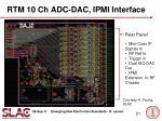 rtm 10 ch adc dac ipmi interface