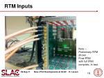 rtm inputs