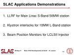 slac applications demonstrations