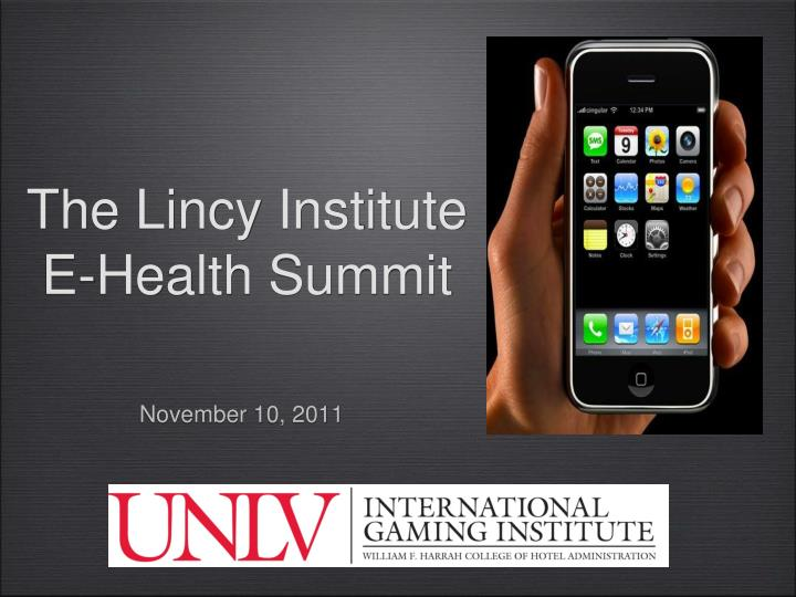 the lincy institute e health summit n.