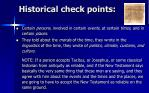 historical check points