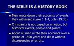 the bible is a history book