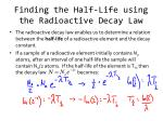 finding the half life using the radioactive decay law