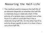 measuring the half life