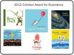 2012 crichton award for illustrators