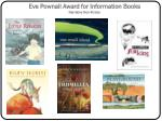 eve pownall award for information books narrative non fiction