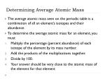 determining average atomic mass