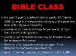 bible class14