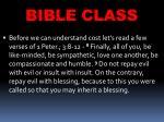 bible class15