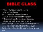 bible class16
