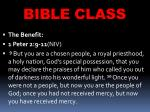 bible class5