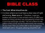 bible class8