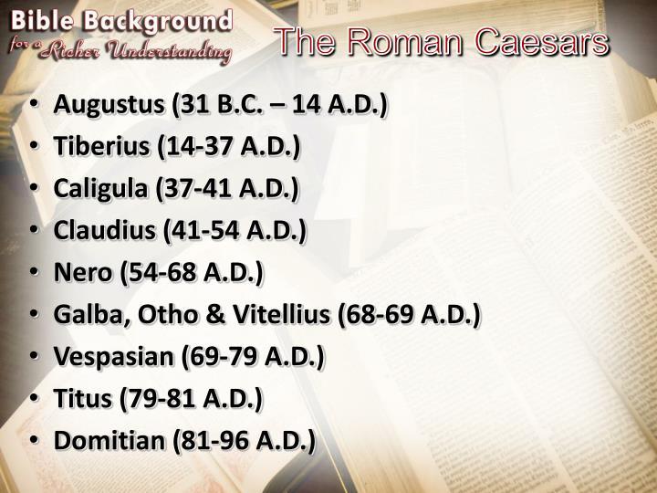The roman caesars
