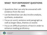what text dependent questions are