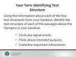 your turn identifying text structure