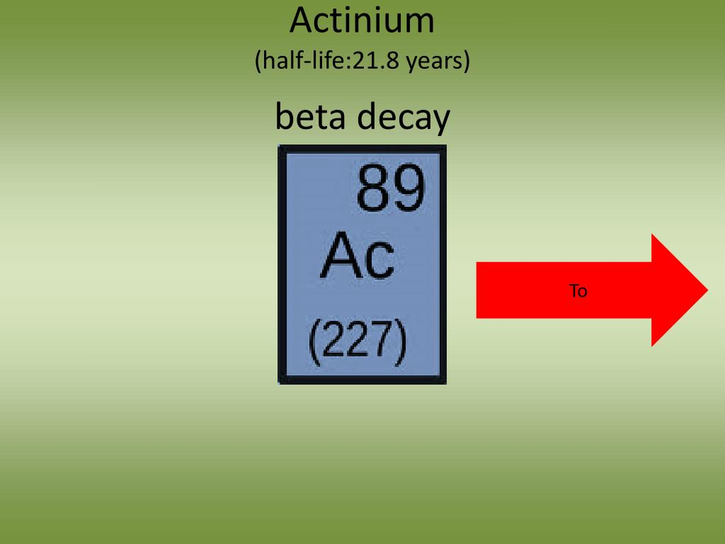 PPT - Radioactive Decay of Plutonium-239 Over the course of 80 8