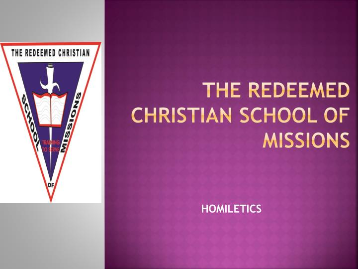 the redeemed christian school of missions n.