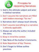 principles for interpreting narratives