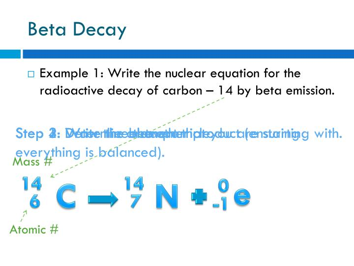 Carbon dating nuclear equation