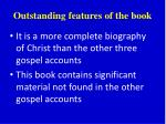 outstanding features of the book