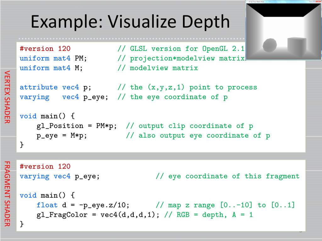 PPT - CS 3388: Programmable Shading in GLSL PowerPoint Presentation