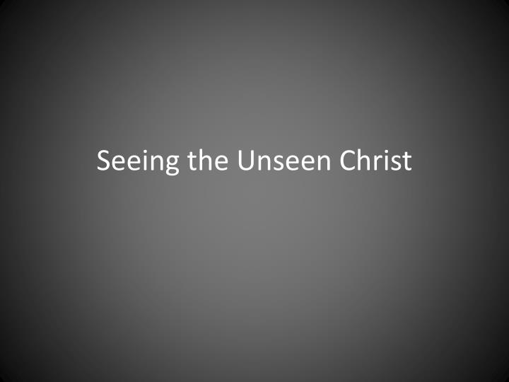 seeing the unseen christ n.