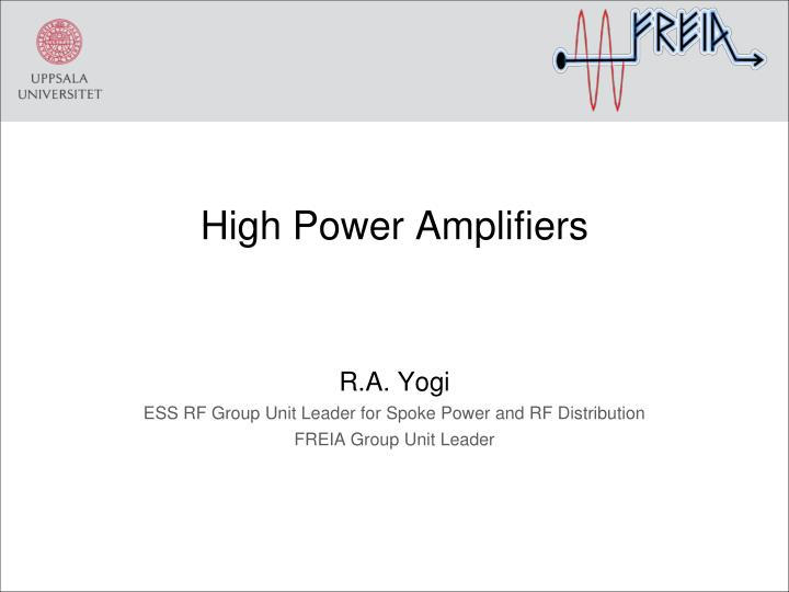 high power a mplifiers n.
