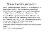 binomisk opsjonsprismodell