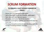 scrum formation