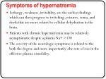 symptoms of hypernatremia